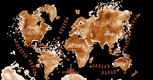 bản đồ cà phê thế giới
