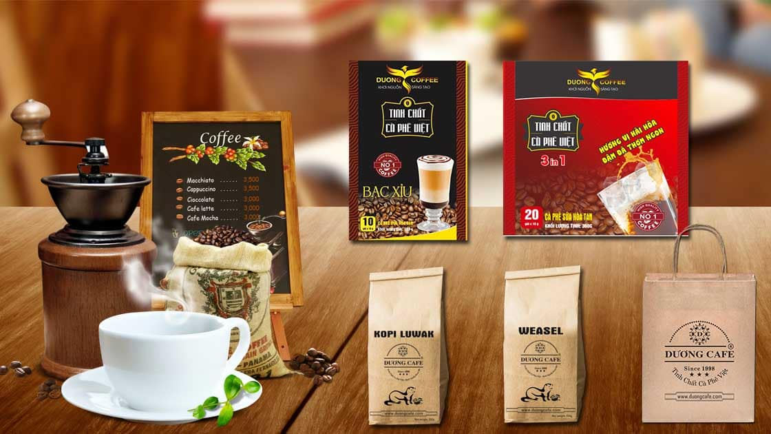 Cac san pham cua Duong Cafe